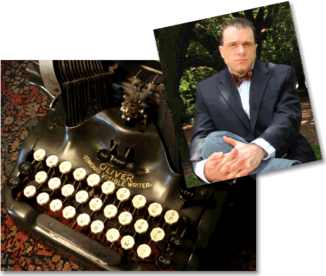 Robert Klara and Typewriter