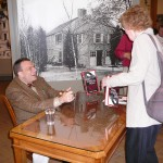 Signing books at the Franklin D. Roosevelt Presidential Library, April 15, 2010.